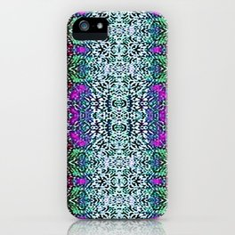 Lavender and Teal iPhone Case