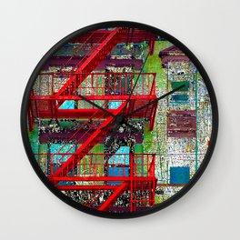 New York City Local Fire Escape Wall Clock