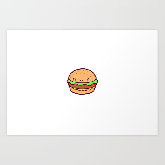 Happy Burger Art Print
