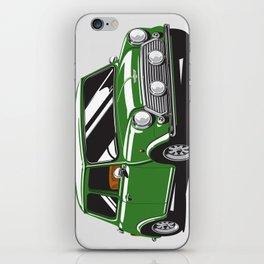 Mini Cooper Car - British Racing Green iPhone Skin