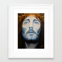 christ Framed Art Prints featuring Christ Painting by Samantha Hardcastle