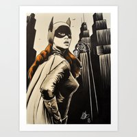 Vintage Batgirl Art Print