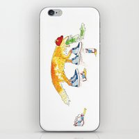 drunk iPhone & iPod Skins featuring Drunk Fox by Jesse Robinson Williams