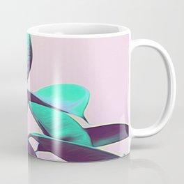 Iridescent Green Leaves Coffee Mug
