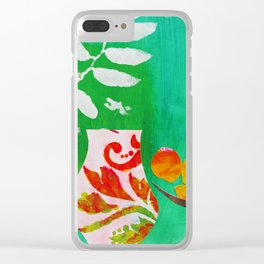 Fern & Peaches Still Life Clear iPhone Case