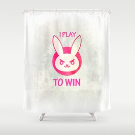 I play to win Shower Curtain