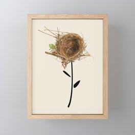 nest flower Framed Mini Art Print