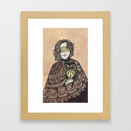 The Seer and the Owl Framed Art Print