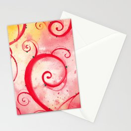 Red Garden Stationery Cards