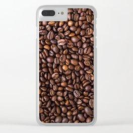 Coffee Bean Scene Clear iPhone Case