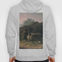 House In The Adirondacks 1851 By David Johnson   Reproduction   Romanticism Landscape Painter Hoody