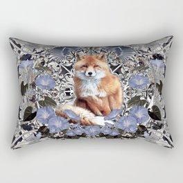 Fox and Bluejays Rectangular Pillow