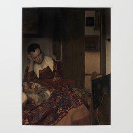 "Johannes Vermeer ""A Woman Asleep at Table"" Poster"