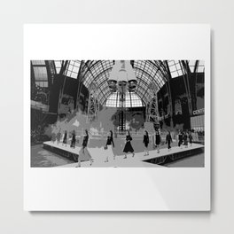 iconic runway industrial black and white Metal Print