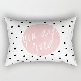 You are loved- Polkadots & Typography Rectangular Pillow
