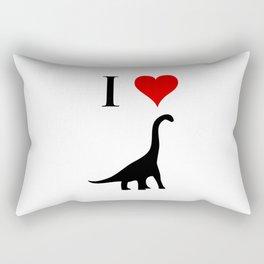 I Love Dinosaurs - Brachiosaurus Rectangular Pillow