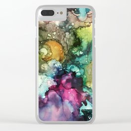 Abstract Colorful Nebulous Clear iPhone Case