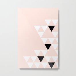 Minimalist Triangles Metal Print