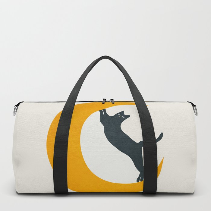 Moon and Cat Duffle Bag