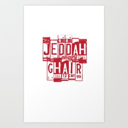 Jeddah Ghair Art Print
