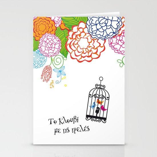 Το κλουβί με τις τρελές (the cage with the crazy girls) Stationery Cards