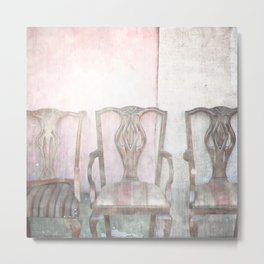 Antique Chairs Metal Print
