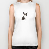 boston terrier Biker Tanks featuring Boston Terrier by 52 Dogs