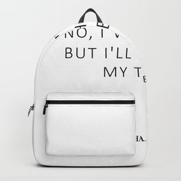 Nightmare - Feminism Quote - Smile Backpack
