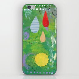 Pale Raindrops iPhone Skin