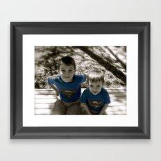 SUPER BOYS!! Framed Art Print