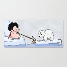 Saving the polar bears Canvas Print