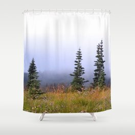 High Upon A Mountain Shower Curtain