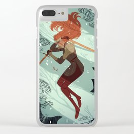 2 of Swords Clear iPhone Case