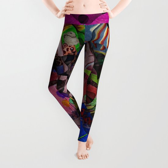 Little bitty bits of time floating freely in the mind Leggings