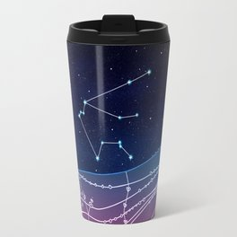 Aquarius Zodiac Constellation Design Travel Mug