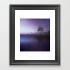 SOLITUDE IN TIME - PURPLE Framed Art Print