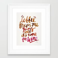 Coffee & Wine – Brown & Magenta Ombré Framed Art Print