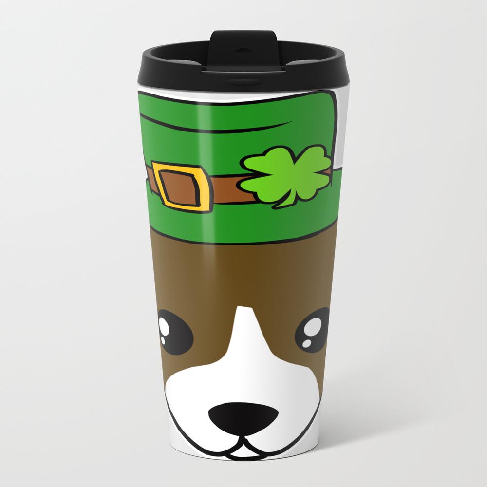 Irish Dog - St. Patrick's Day Shamrock Hat Travel Mug TRM8630787