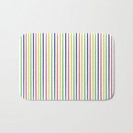 lovely stripes navy Bath Mat