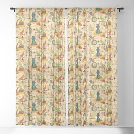Mid Mod Tiki Sheer Curtain