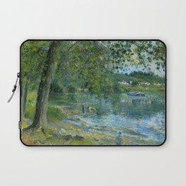 """Camille Pissarro """"Bords de l'Oise à Auvers-sur-Oise""""(""""Banks of the Oise at Auvers-sur-Oise"""") Laptop Sleeve"""