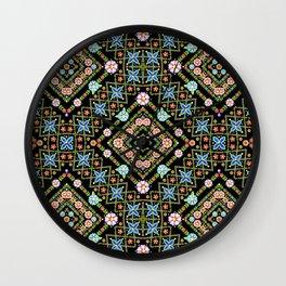 Millefiori Floral Lattice Wall Clock