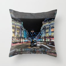 London Black Cab Throw Pillow