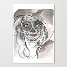 Woman bones Canvas Print