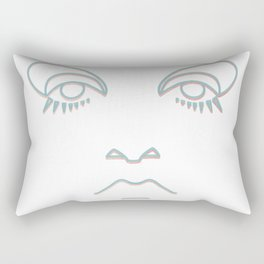 Twiggy in blue and rose gold Rectangular Pillow