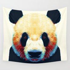 Panda - Colorful Animals Wall Tapestry