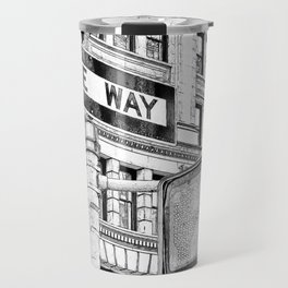 Stop, Look and One Way Street . Travel Mug