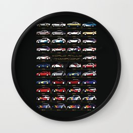 WRC Champions Wall Clock