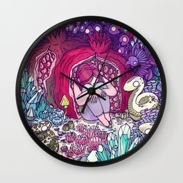 The girl in the pomegranate Wall Clock