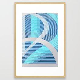Resonance (blue-aqua) Framed Art Print